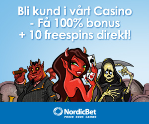20 freespins hos NordicBet